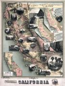California 1888 State Map 24x31 California 1888 State Map California  map online
